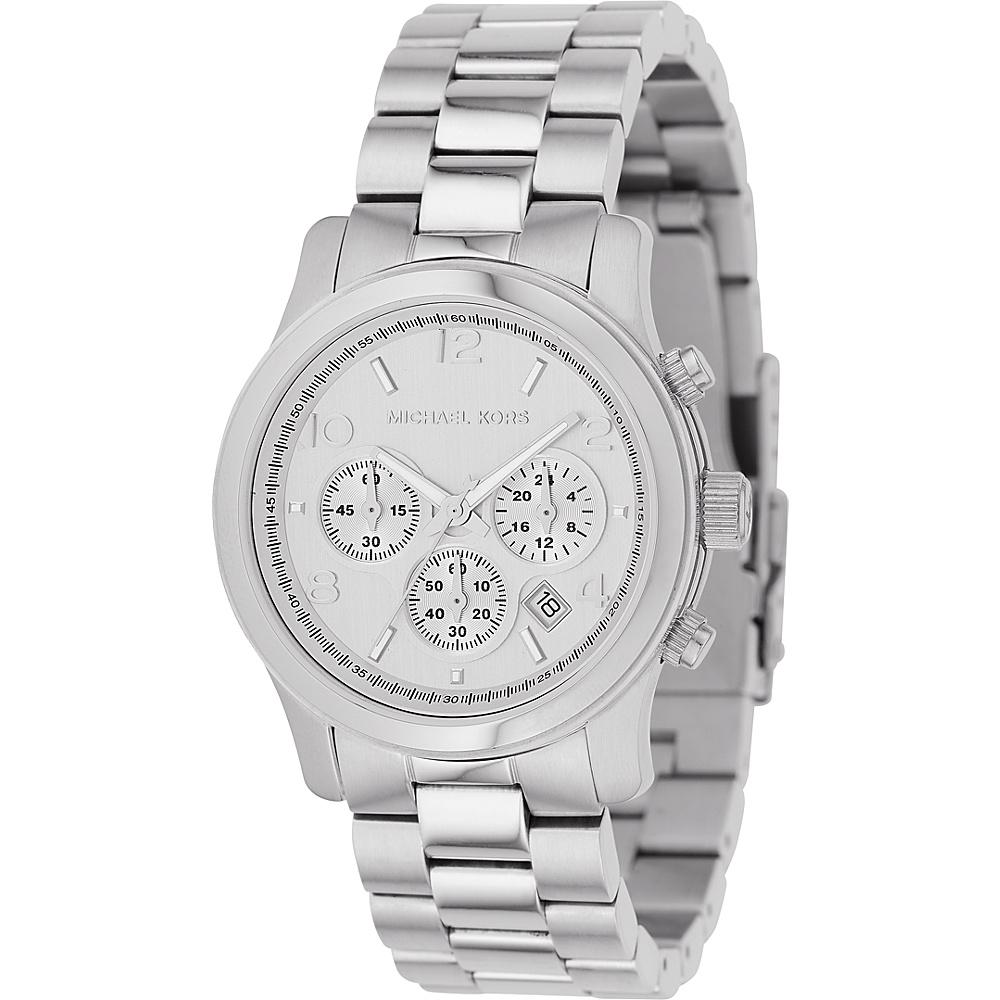 Michael Kors Watches Silver Chronograph Runway - Silver
