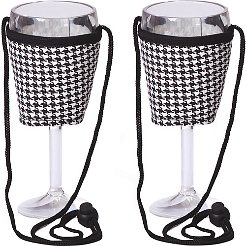 Picnic Plus Wine Glass Lanyard Set of 2 - Houndstooth