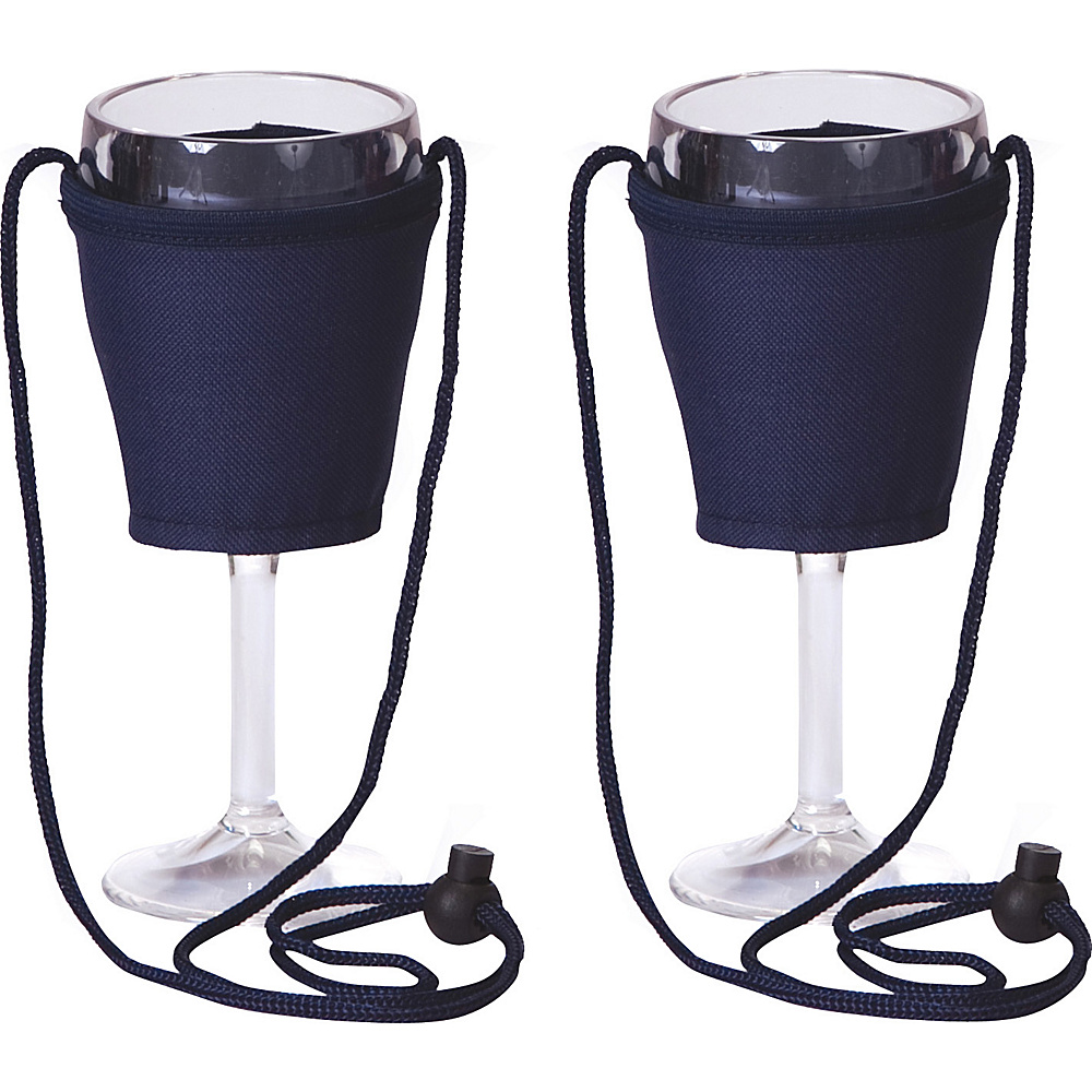 Picnic Plus Wine Glass Lanyard Set of 2 - Navy - Outdoor, Hydration Packs and Bottles