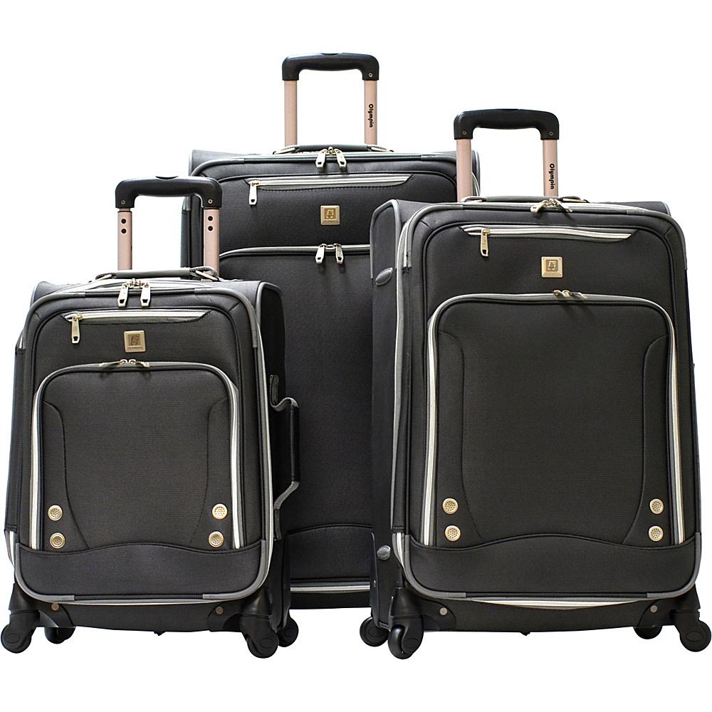 Olympia USA Skyhawk Exp. 3 Piece Travel Set Black - Olympia USA Luggage Sets - Luggage, Luggage Sets