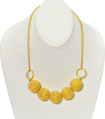 Heather Pullis Designs Yellow Metal Balls with Yellow Chain