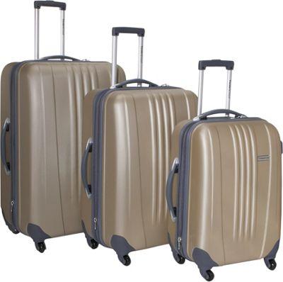 Traveler's Choice Toronto 3-Piece Hardside Spinner Luggage ...