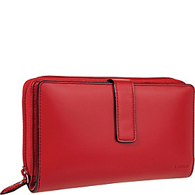 Audrey Deluxe Checkbook Clutch Red