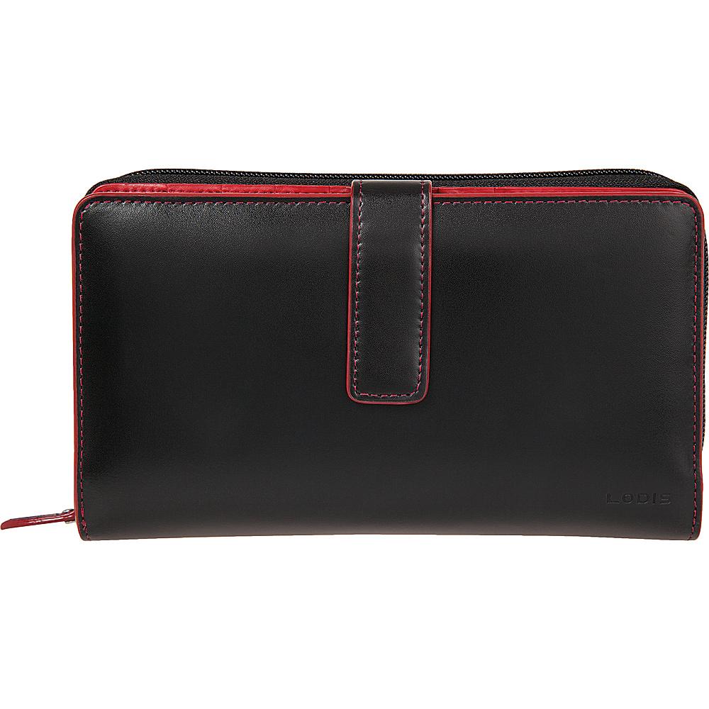 Lodis Audrey Deluxe RFID Checkbook Clutch New Black - Lodis Womens Wallets - Women's SLG, Women's Wallets