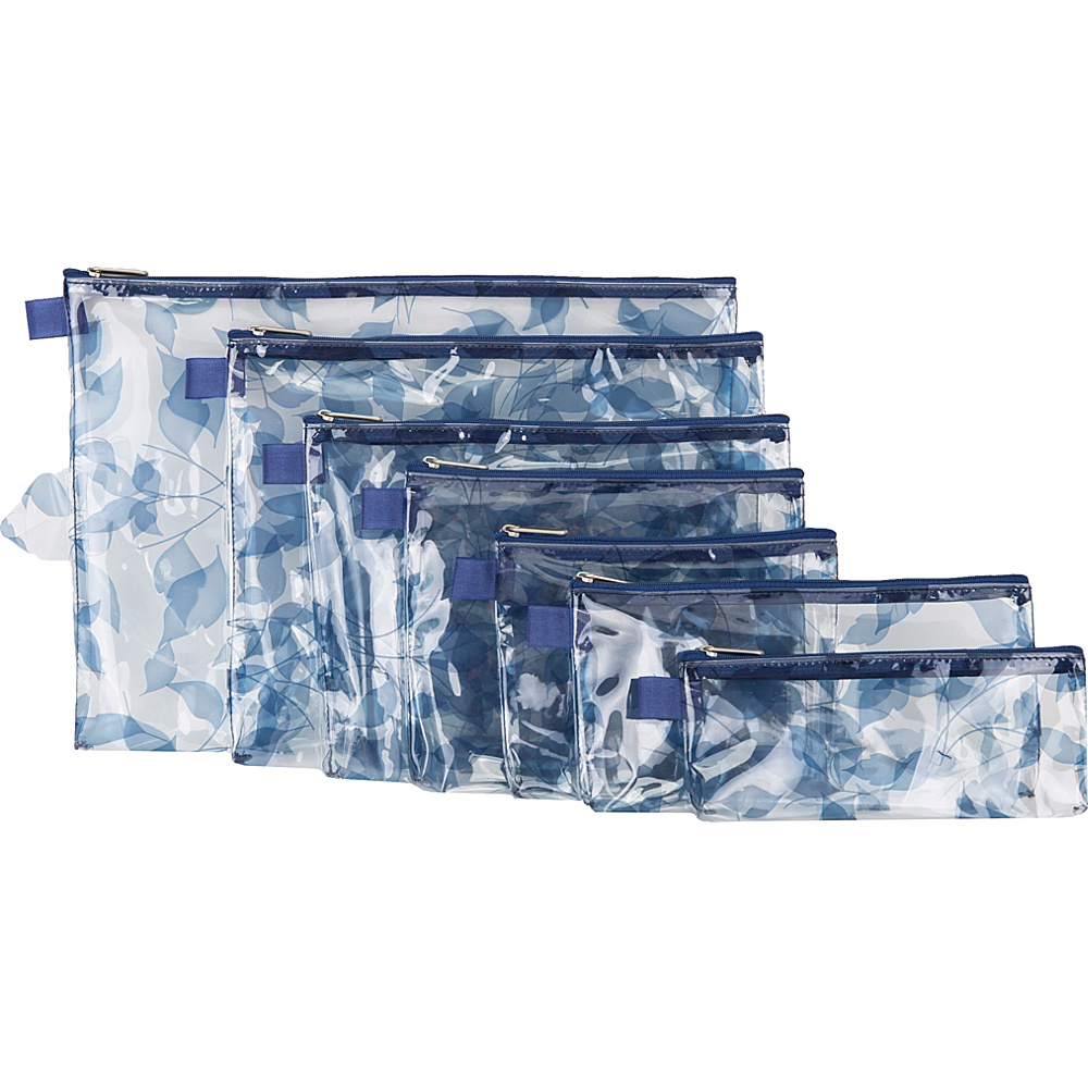 Travelon Set of 7 Packing Envelopes Blue Leaves - Travelon Travel Organizers - Travel Accessories, Travel Organizers