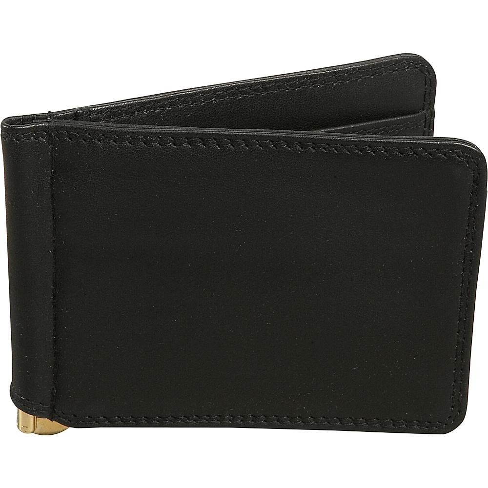 Derek Alexander Mens Credit Card Bill Clip - Black - Work Bags & Briefcases, Men's Wallets
