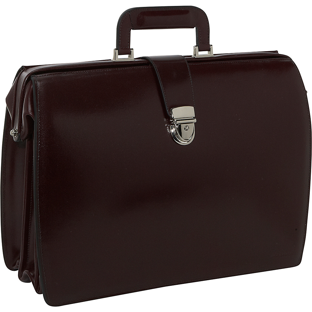 Jack Georges Elements Collection Classic Leather Laptop Briefbag Burgundy - Jack Georges Non-Wheeled Computer Cases