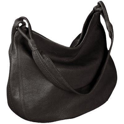 Derek Alexander Yukon Leather Shoulder Bag - Black