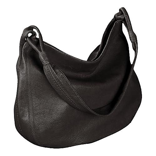 Derek Alexander Yukon Leather Shoulder Bag - Black