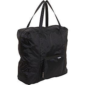 Zip Out Shopping Tote.Bagg Medium Rip Stop Nylon Black