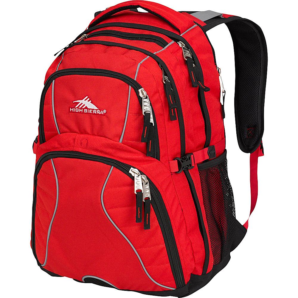 High Sierra Swerve Laptop Backpack Crimson Black High Sierra Business Laptop Backpacks