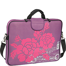 15.6'' Laptop Sleeve Purple Hibiscus