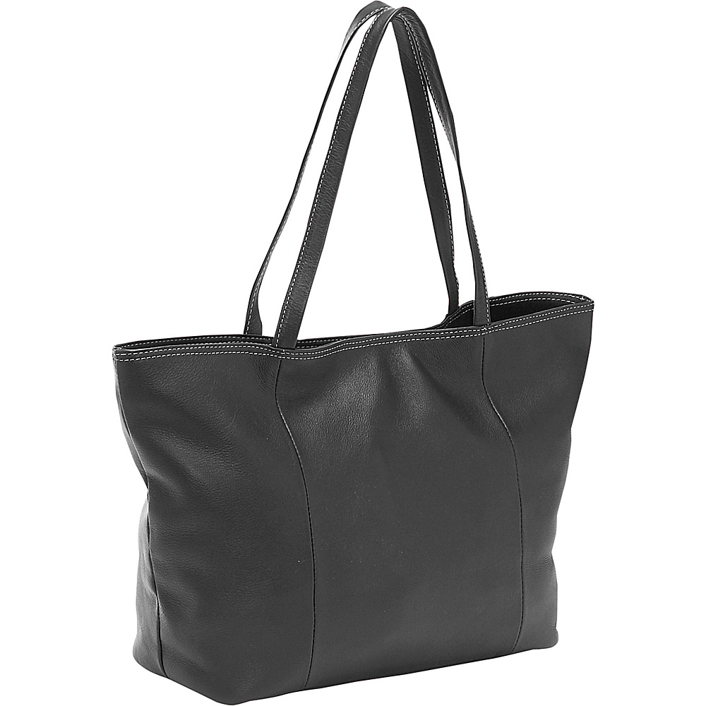 Piel Womens Small Professional Tote Black