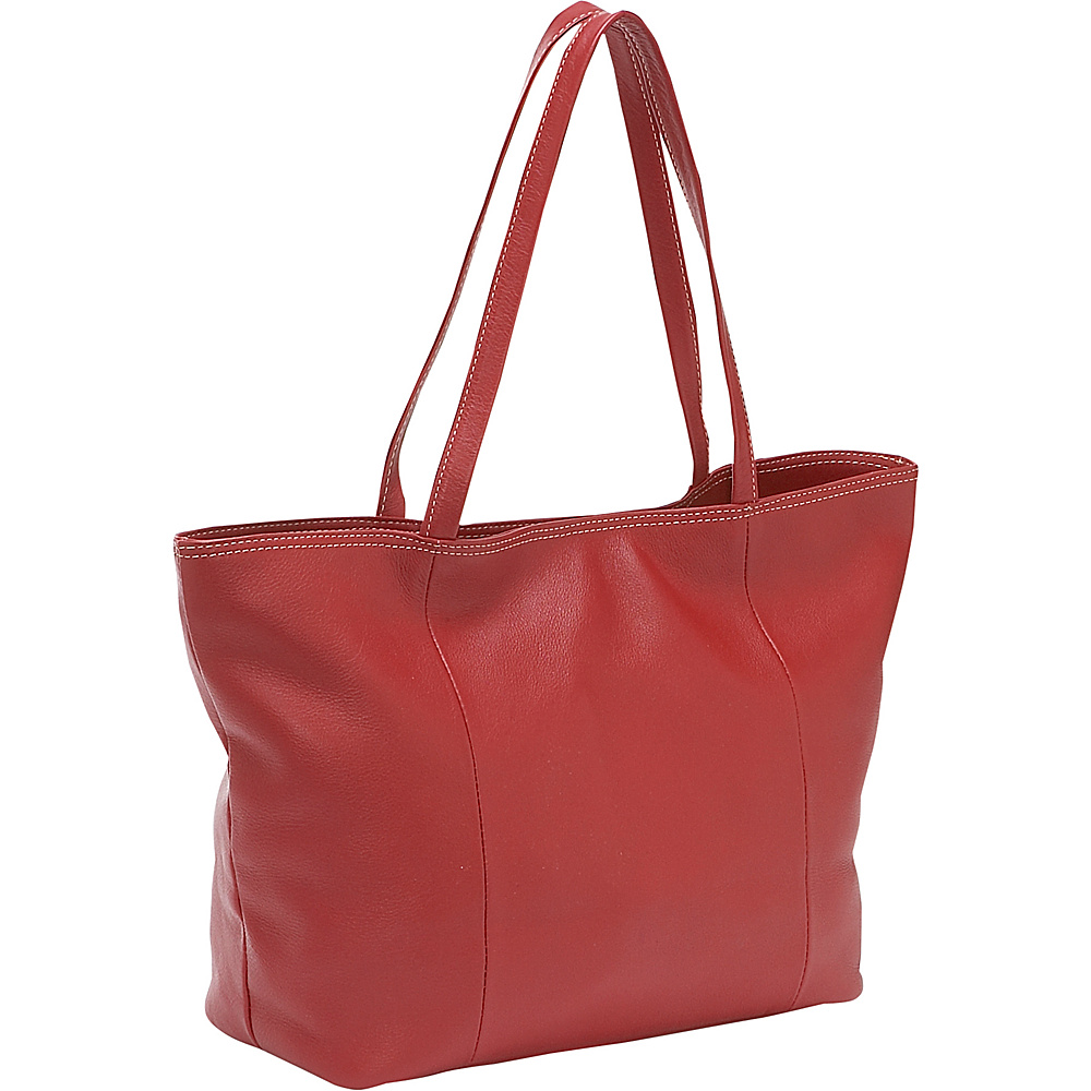 Piel Womens Small Professional Tote Red