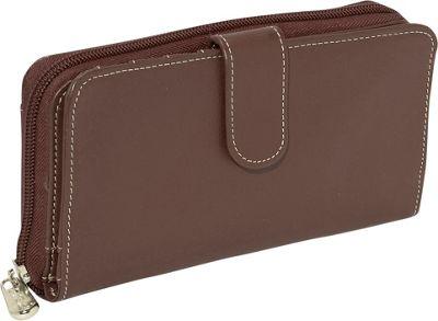 Piel Ladies Multi-Compartment Wallet - Chocolate