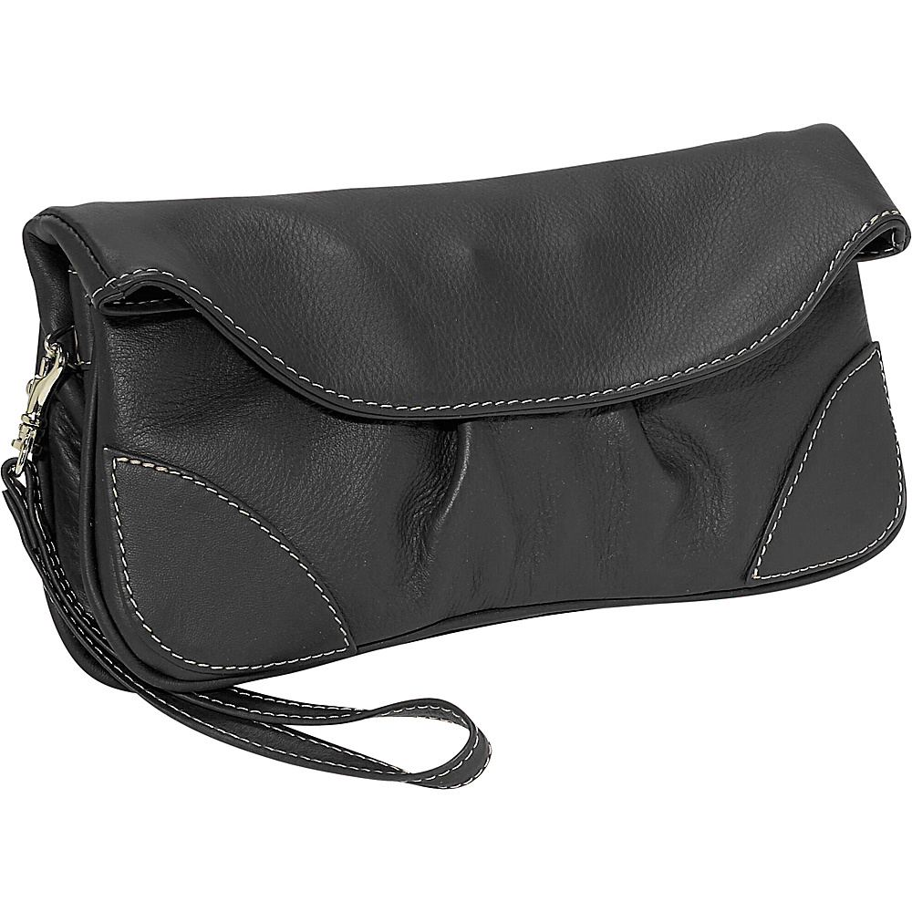 Piel Handbag Wristlet Black