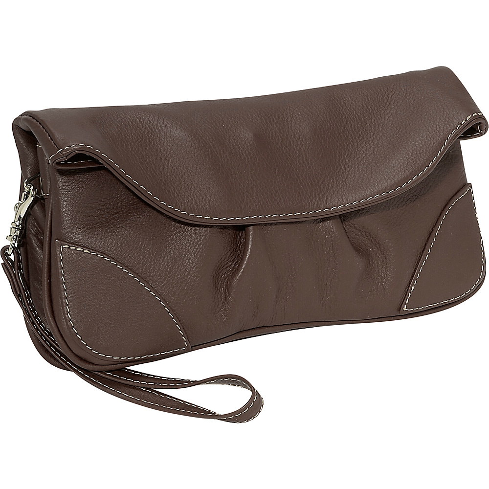 Piel Handbag/Wristlet - Chocolate - Women's SLG, Women's Wallets