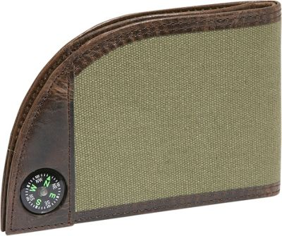 Rogue Wallets Sport Wallet with Compass - Green Canvas