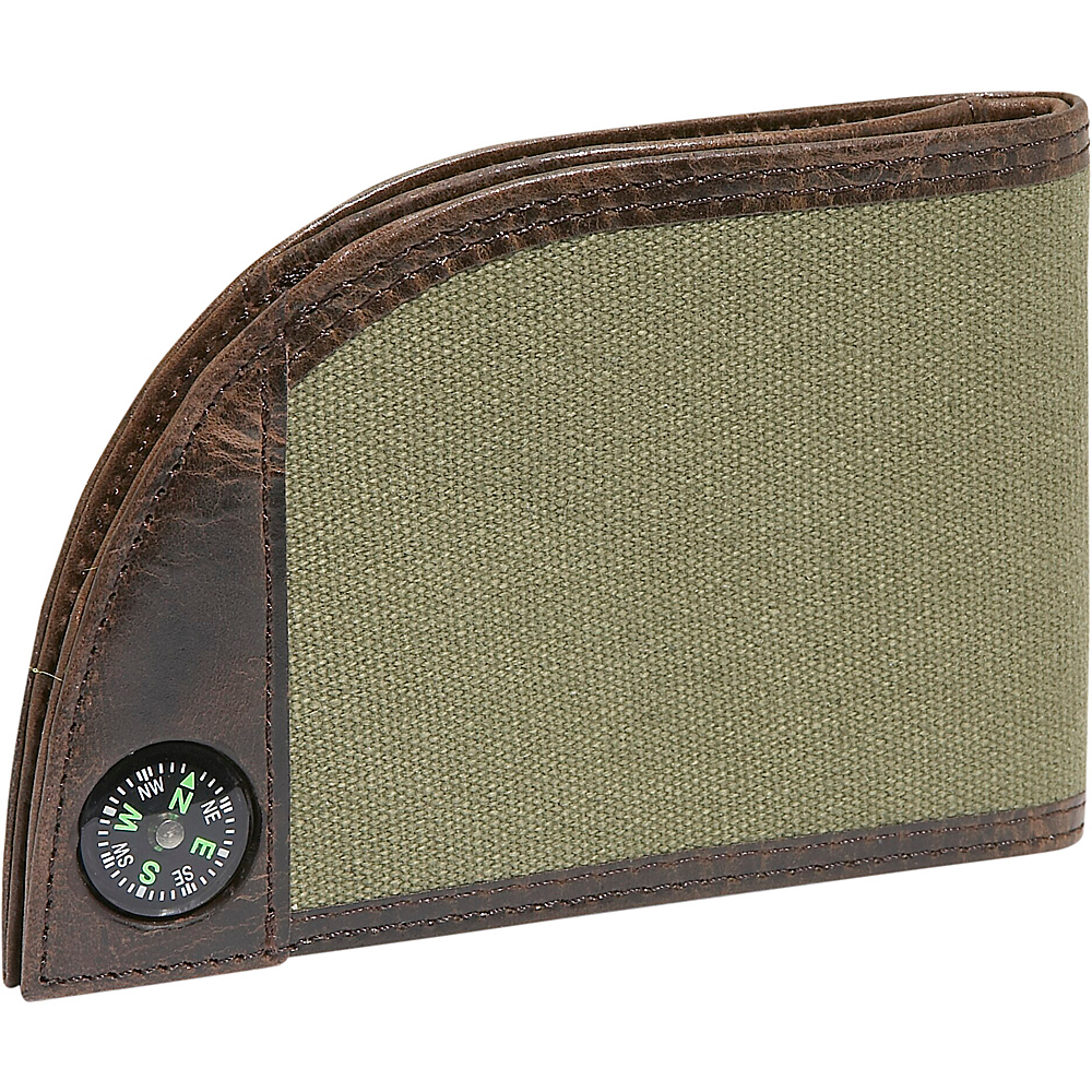 Rogue Wallets Sport Wallet with Compass Green Canvas