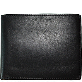 Collins Calf Billfold Black Calf w/plaid