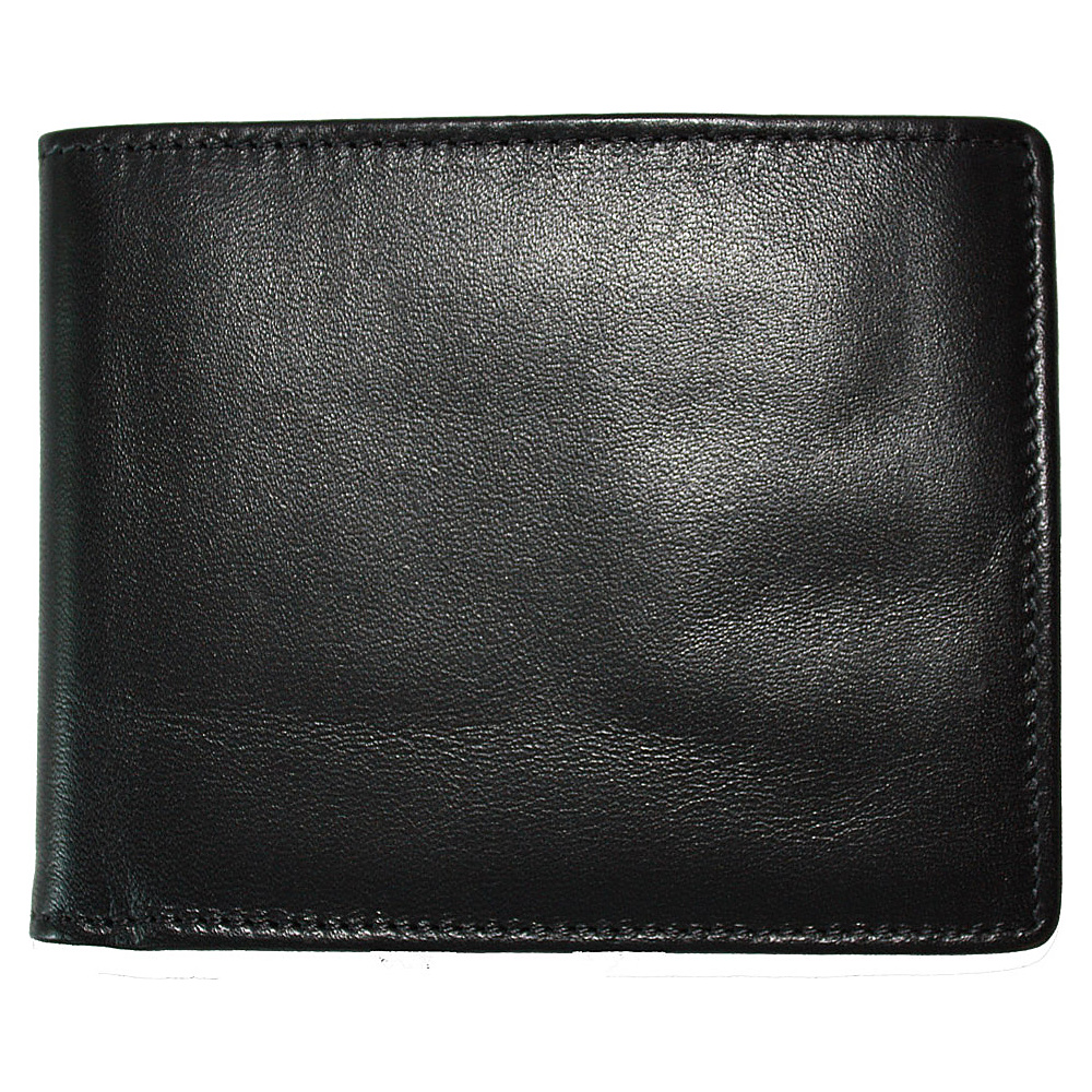 Boconi Collins Calf Billfold - Black Calf w/blue - Work Bags & Briefcases, Men's Wallets