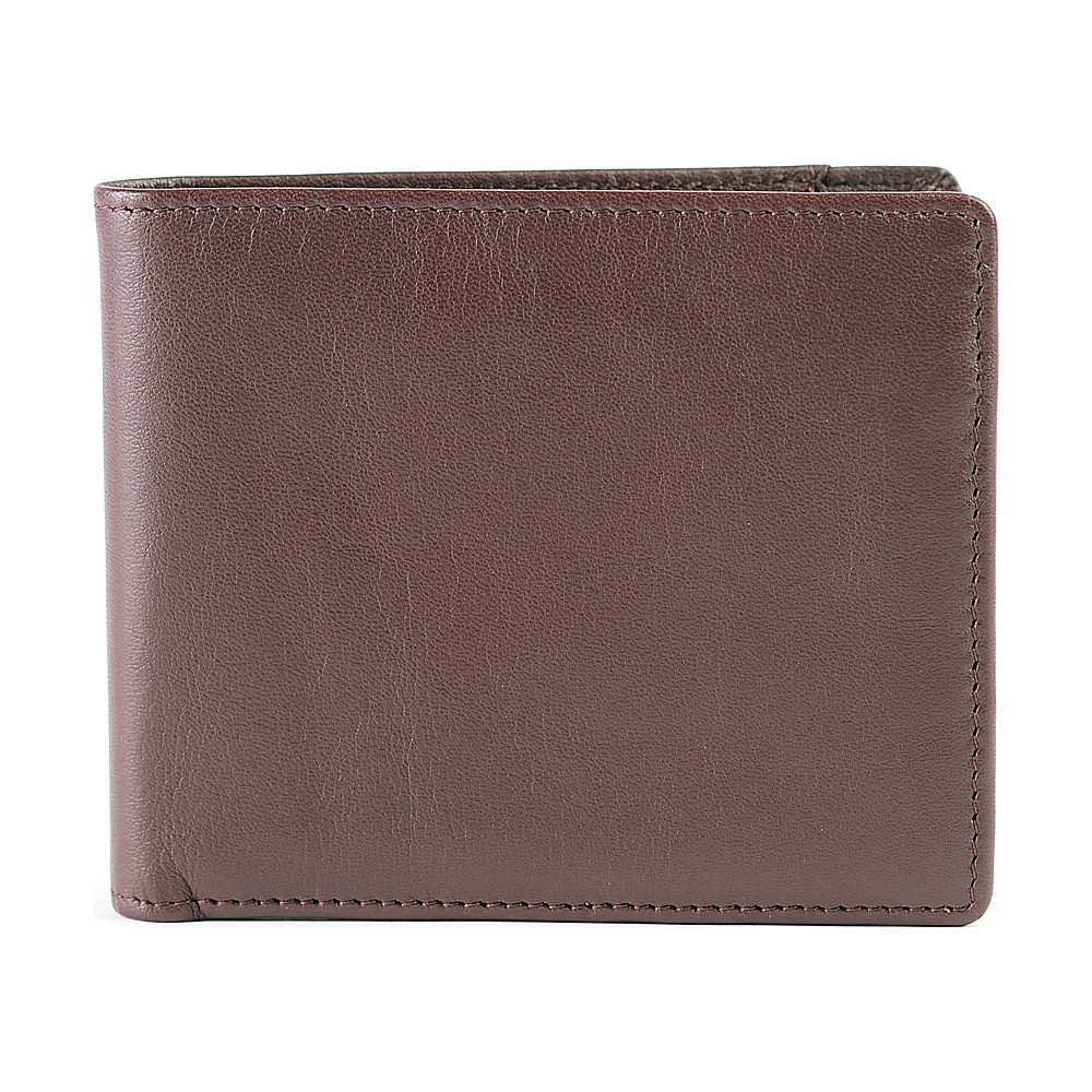 Boconi Collins Calf Billfold Espresso w cool blue Boconi Men s Wallets