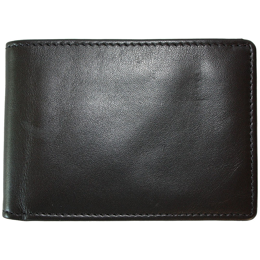 Boconi Collins Calf Slimster Wallet - Black Calf w/blue - Work Bags & Briefcases, Men's Wallets