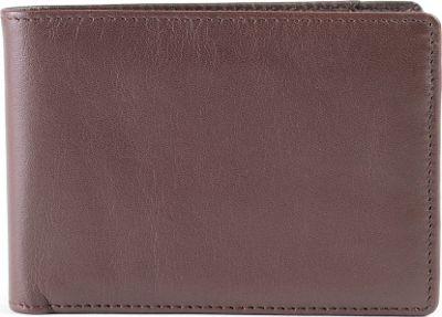 Boconi Collins Calf Slimster Wallet Espresso w/ cool blue - Boconi Men's Wallets