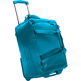 20'' Foldable 2 Wheeled Duffle Bag Aqua