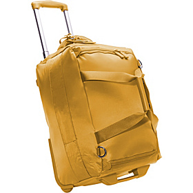 20'' Foldable 2 Wheeled Duffle Bag Mustard