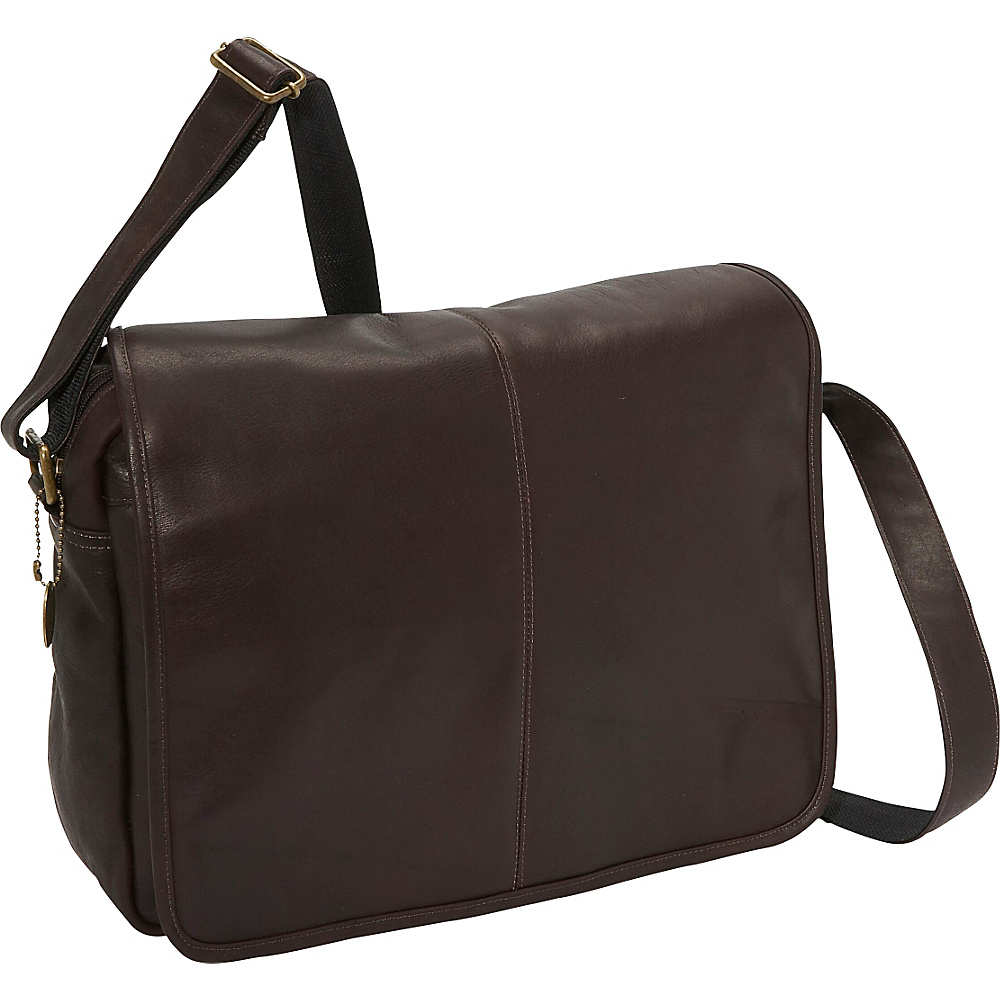 David King Co. Flap Over Laptop Messenger w Back