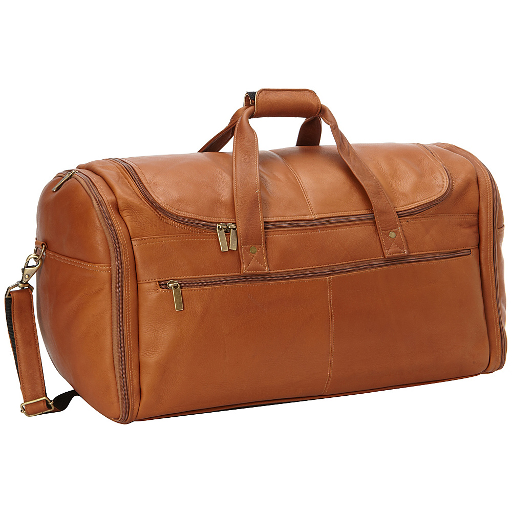 David King Co. Extra Large Multi Pocket Duffel Tan David King Co. Travel Duffels