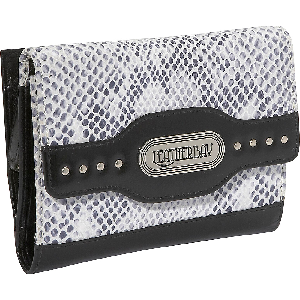 Leatherbay Italian Leather Clutch Wallet - Snake Print