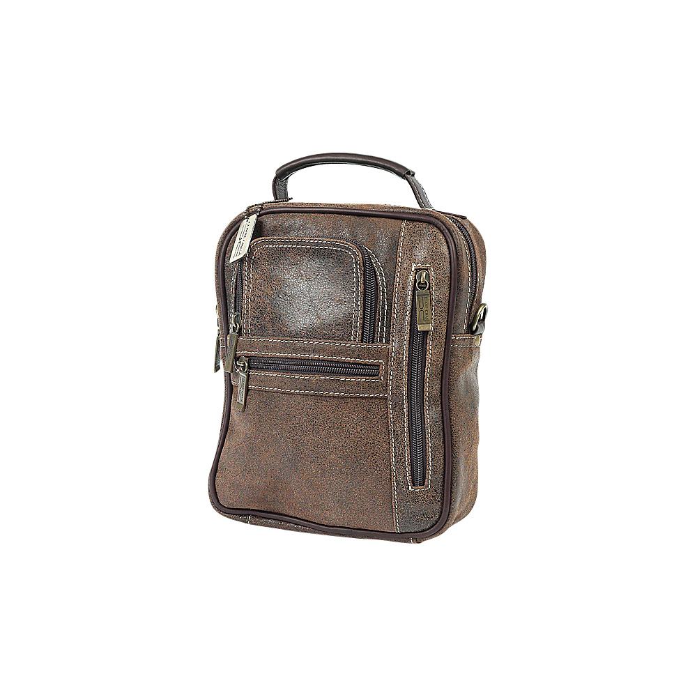 ClaireChase Medium Man Bag - Distressed Brown - Work Bags & Briefcases, Other Men's Bags