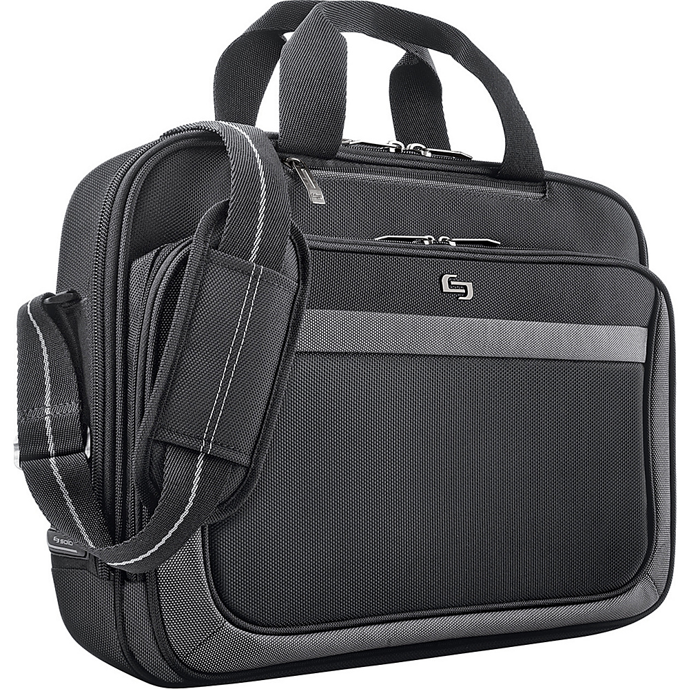 SOLO Sterling Collection Laptop Slim Brief - Black - Work Bags & Briefcases, Non-Wheeled Business Cases