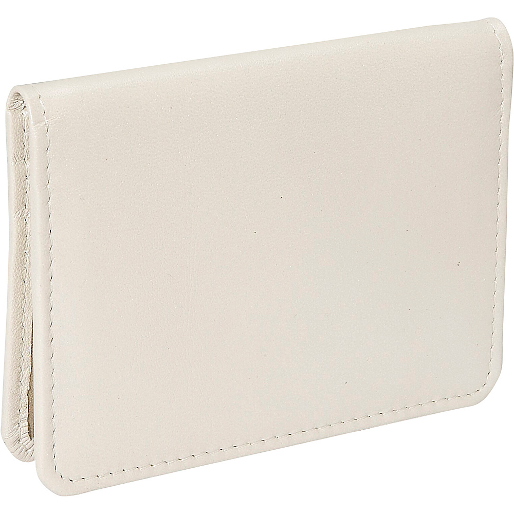 Derek Alexander Small Credit Card Holder - Bone/Gold - Work Bags & Briefcases, Men's Wallets