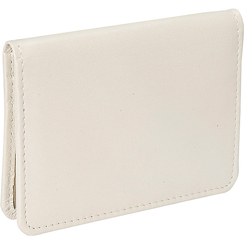 Derek Alexander Small Credit Card Holder - Bone/Gold
