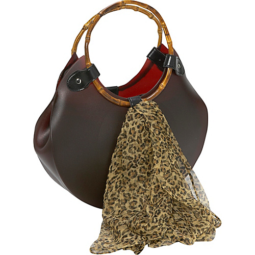 Bamboo 54 Scoop Rubber Bag With Scarf - Shoulder Bag