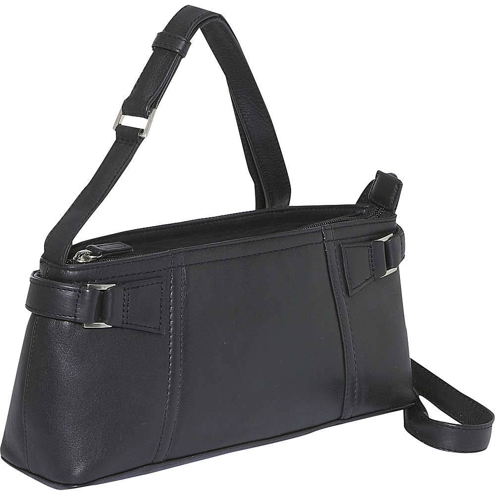 Derek Alexander EW Inset Top Zip - Black - Handbags, Leather Handbags