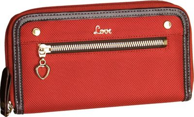Protec  inchLove inch Wallet with Removable ID Holder - Red