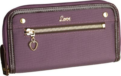 Protec  inchLove inch Wallet with Removable ID Holder - Purple