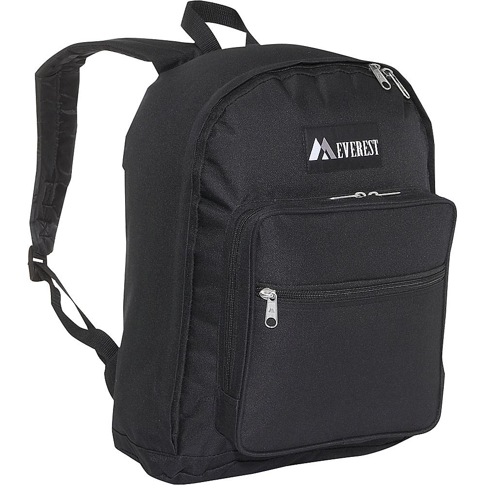 Everest Classic Backpack with Side Mesh Pocket - Black - Backpacks, Everyday Backpacks