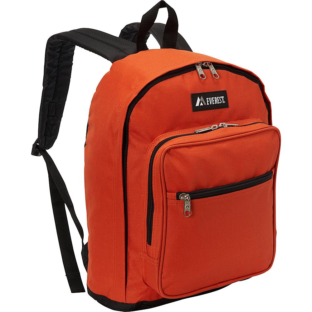 Everest Classic Backpack with Side Mesh Pocket Rust Orange/Black - Everest Everyday Backpacks - Backpacks, Everyday Backpacks