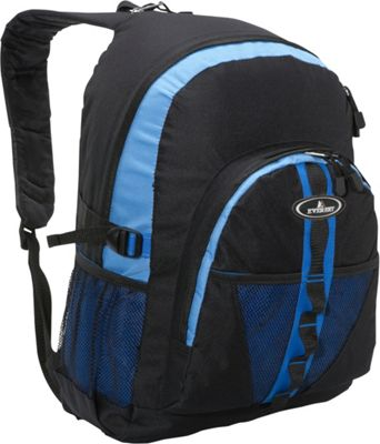 Everest Backpack with Dual Mesh Pocket Royal Blue/Blue/Black - Everest Everyday Backpacks