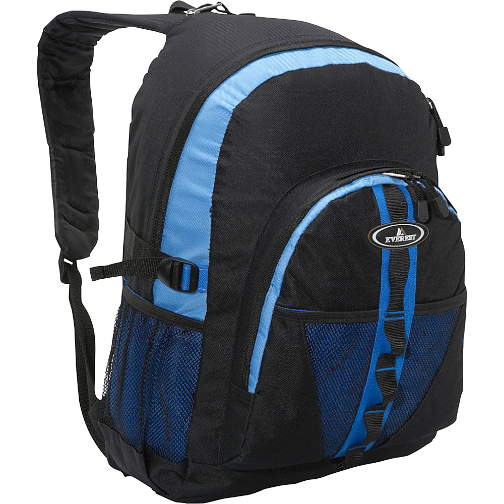 Everest Backpack with Dual Mesh Pocket Royal Blue/Blue/Black - Everest Everyday Backpacks - Backpacks, Everyday Backpacks