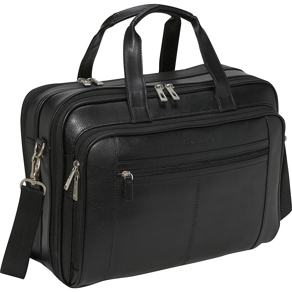 Samsonite Leather Checkpoint Friendly Brief - Black - Work Bags & Briefcases, Non-Wheeled Business Cases