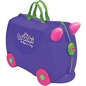 Trunki Iris Rolling Kids Luggage Purple