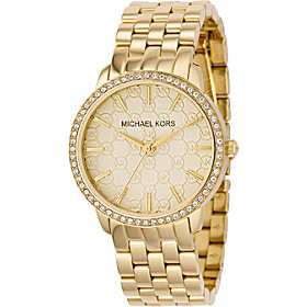 Ladies Gold 5- Link Round Argyle MK with Glitz Gold