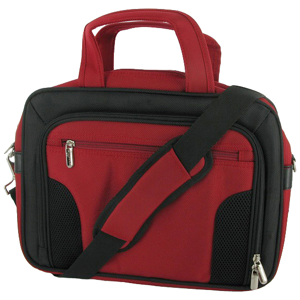 "rooCASE Deluxe Carrying Bag for iPad 2,  10"" and 11.6"" Netbook Red - rooCASE Non-Wheeled Business Cases"