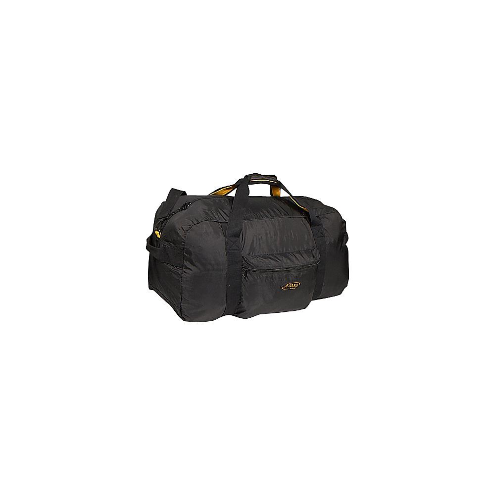 A. Saks 30 Lightweight Folding Duffel - Black - Travel Accessories, Packable Bags